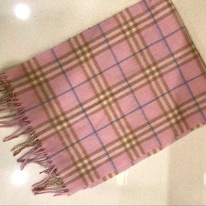 Authentic pink Burberry Scarf